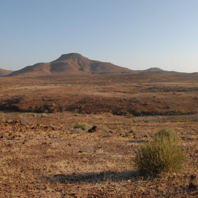 Much of the landscape was formed by ancient lava flows.
