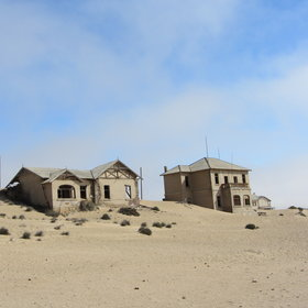 Inland is the abandoned mining town of Kolmanskop.