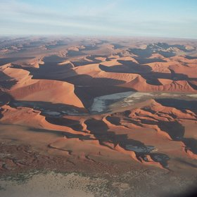 Namibia's Namib Naukluft National Pak - where dunes meet mountains...