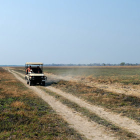 To get between the camps in the Kafue, you will often be driven by 4WD ...
