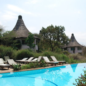 The rooms at Lake Manyara Serena Hotel are very spacious - all having access to the pool.