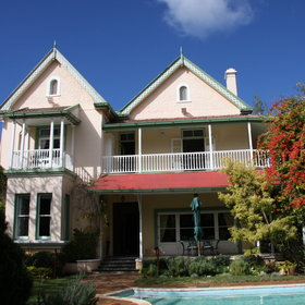 In Port Elizabeth you might want to spent one night at the lovely Hacklewood Hill House...