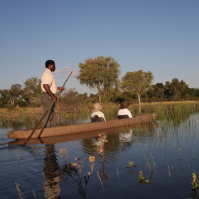 The ambience of the Delta's floodplains is best experienced on a relaxing mokoro...