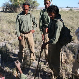 Activities on the pans range from walks guided by bushmen ...