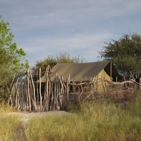 ... and beside this are one or two camps, including Meno A Kwena Tented Camp.