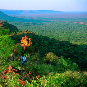 Like some Lost World, the Waterberg Plateau rises sheer from the surrounding Kalahari Desert.