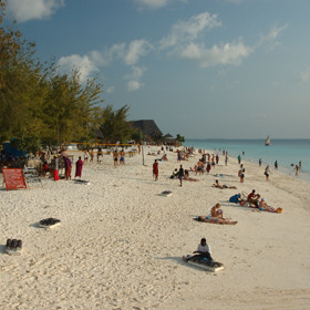 The beaches around Nungwi are busy and buzzy - here is West Beach: it is always lively