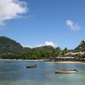 You can also organise boat trips and diving from Beau Vallon.