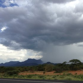 The landscapes and weather in northern Kenya can be intensely dramatic, as here, in a cloudburst.