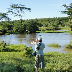 Parts of the region are remote and little visited, as here on the Ewaso Narok at Sosian.