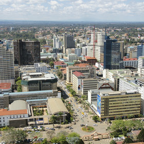 Nairobi's heart is a grid of old streets, colonial-era buildings and modern glass and concrete.