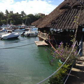 …or to any of the wide range of restaurants, such as this floating restaurant at Mtwapa.
