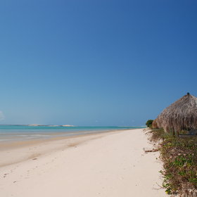 ... with its clear, turquoise waters and tranquil, white beaches...