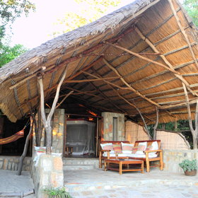 One of six stunning chalets at Nkwichi Lodge.