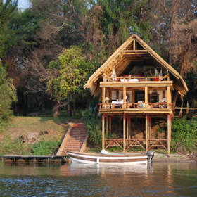 Upstream you can stay at Tongabezi, one of the most romantic places in the region…