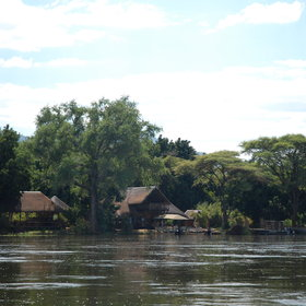 Most of the camps and lodges in the Lower Zambezi are beside the river…