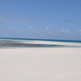 The island offers a beautiful white sandy beach…