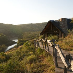 ...Great Fish River Lodge, which is spectacularly set overlooking the river,...