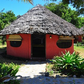 In Kilwa you can stay in functional and simple cottages…