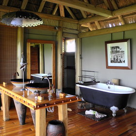 Most rooms in camps in Botswana have well-appointed en-suite facilities.