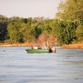 Boat trips are as much a part of the scene in Zimbabwe...