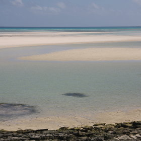 Exposed sandbanks, like this one near Ibo Island, make exclusive private beaches.