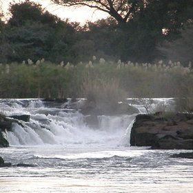 …to the lush vegetation of the Caprivi Strip…