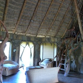 to the quirky (El Karama eco-lodge)…