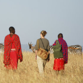 Your day on safari usually starts with a game drive, or in this case a bush walk…