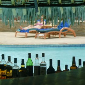 …to comfortable and well-managed beach hotels (Pinewood Beach Resort).