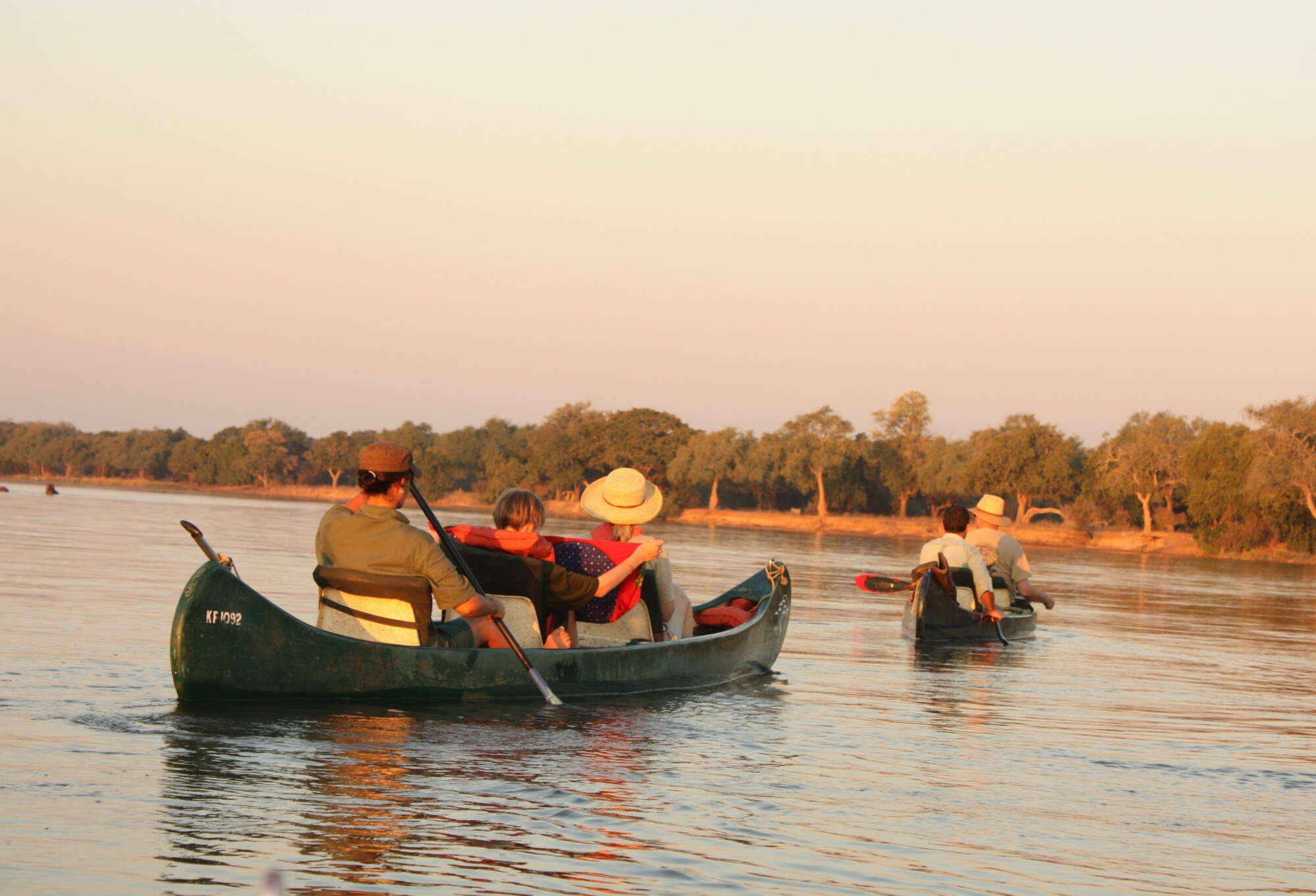 Safari to Ruckomechi Camp, including the Canoe Trail, in Mana Pools National Park in Zimbabwe.