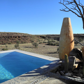 ...as well as an inviting plunge pool...