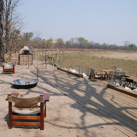 … whilst watching for game that come to drink at the Kapamba River and natural spring.