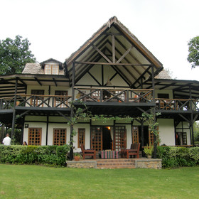 Twiga Lodge has four rooms in the tudor style main house.