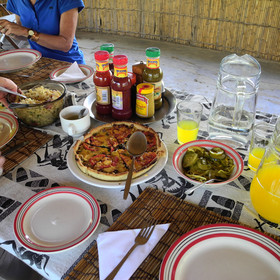 The food at Luwombwa is very tasty - cooked in a simple bush kitchen with no electricity!