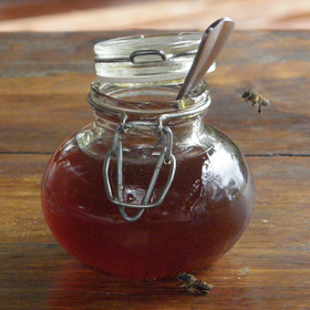 Even the honey was scrumptious enough to attract the bees!