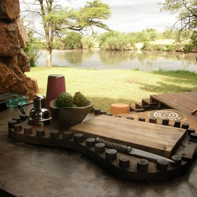 ...where the barman has all the tools to make the perfect sundowner drink.