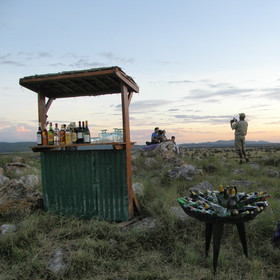 Days often end with sundowners at a well chosen vantage point...
