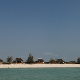 Coral Lodge is located on a lovely stretch of deserted beach.