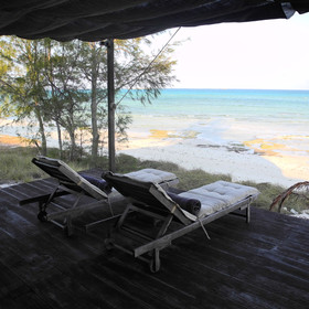 Each villa has a private deck...