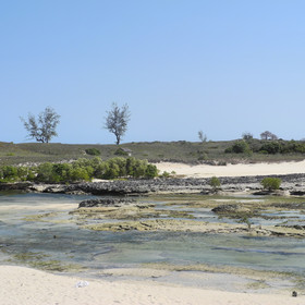 ... which is great for snorkelling at low tide.