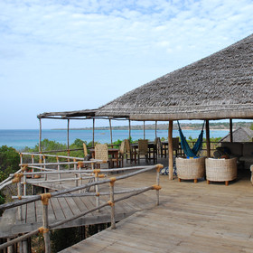 The main communal areas all look over the beach to sea.