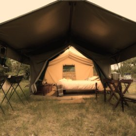 Saile Tented Camp situated in the Chobe Enclave has civilised touches but retains simplicity
