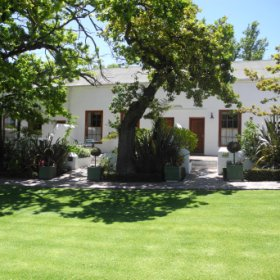 Lanzerac Hotel is situated in Stellenbosch in South Africa's beautiful wine lands.