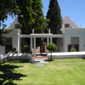 The historic Cape Dutch Manor house with its stunning architecture...