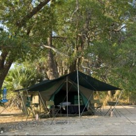 Spending a few nights in the Robin Pope Safaris bush-camp adds an adventurous dimension to your trip