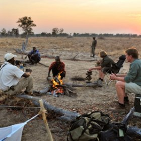 For a closer communion with nature try a night's fly-camping from Mwamba