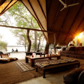 Kiba Point is situated deep in the Selous Game Reserve. It is a small, private, stylish camp.