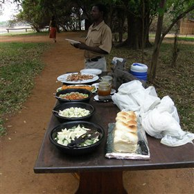 Meals are often served outside. We especially enjoyed dinner under the stars