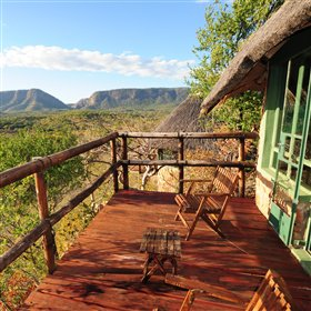 Perched on a rocky outcrop, Chizarira Wilderness Lodge is the only safari lodge in Chizarira Park
